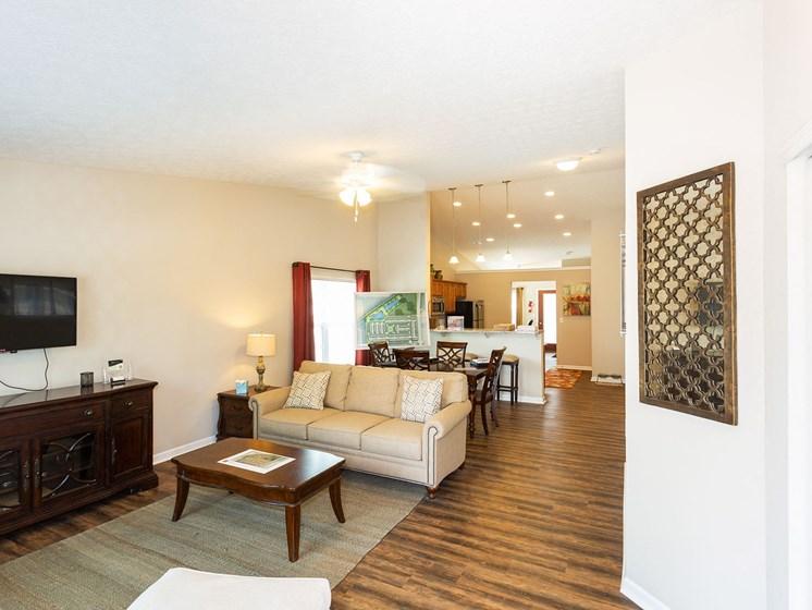 Dublin Ohio Apartment Rentals Redwood Dublin Open Floor Plans Living RoomRedwood Living