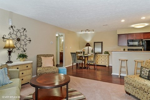 Alternate View Of Living Room With Tile Floor, at Suncrest Apartment Homes, Indianapolis, IN