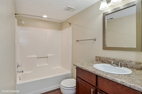 Upgraded Bathroom Fixtures, at Suncrest Apartment Homes, 46241, IN