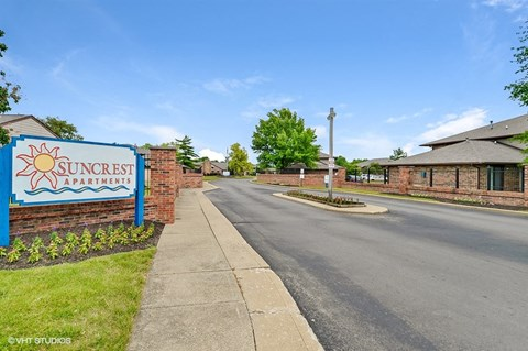 Beautiful Landscaping, at Suncrest Apartment Homes, Indianapolis, IN