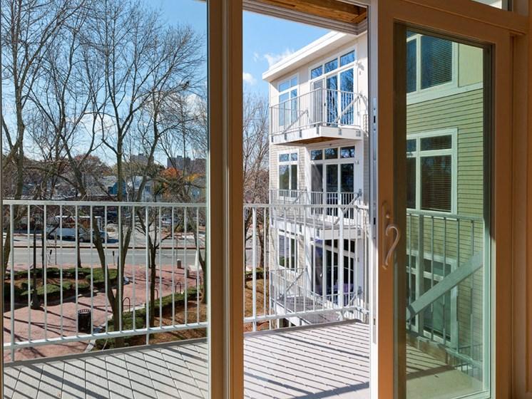 Specious Balcony at 7 Cameron, Massachusetts