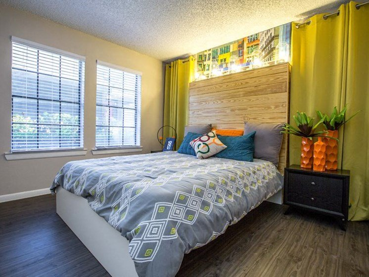 Bedroom With Expansive Windows at Balcones Club, Austin, TX