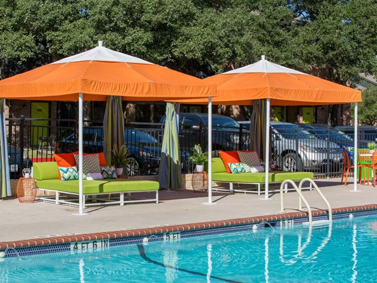 Lounge Swimming Pool With Cabana at Balcones Club, Austin, TX