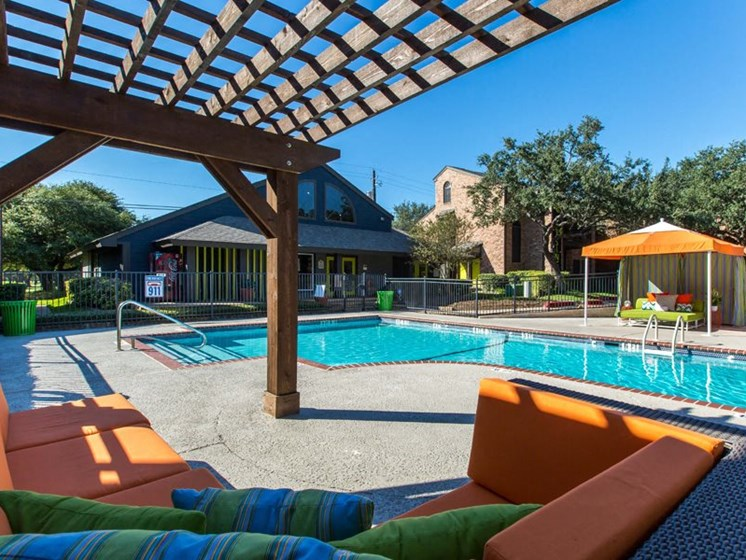 Poolside Relaxing Area at Balcones Club, Texas, 78750