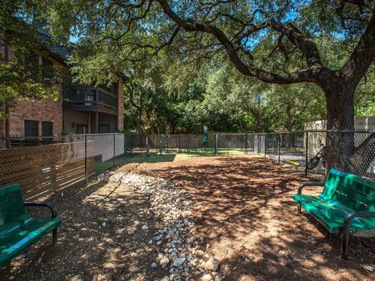 Dog Park at Balcones Club, Austin, TX