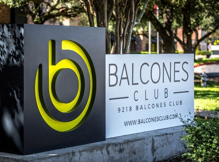 Welcoming Property Sign at Balcones Club, Austin, 78750