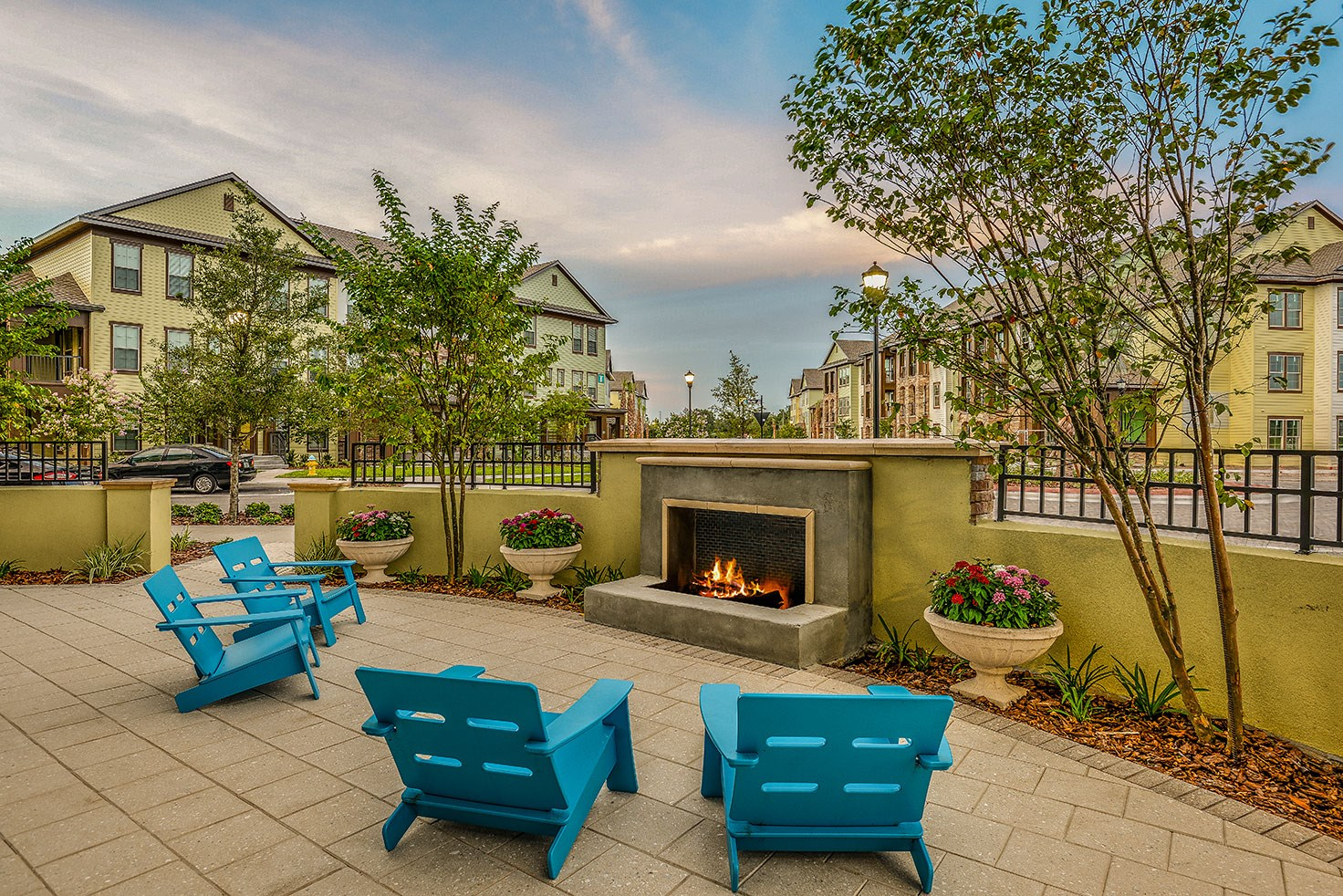 Outdoor Fireplace at Circa at FishHawk Ranch in Lithia, FL