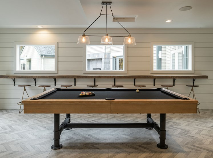 Billiards Table In Clubhouse at Edgewater Apartments, Boise