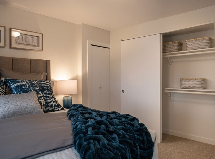 Bedroom With Closet at Edgewater Apartments, Boise