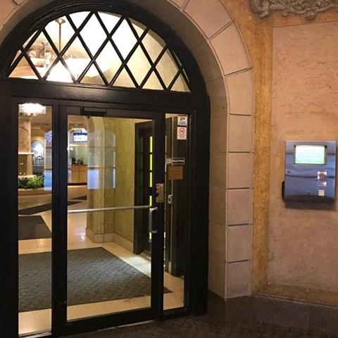 Front Vestibule at Park View Apartments, Chicago, IL