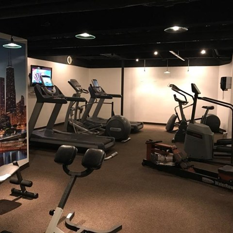 Workout Room at Park View Apartments, Chicago, IL