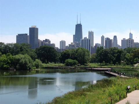 Lincoln Park Pond at Park View Apartments, Illinois, 60614
