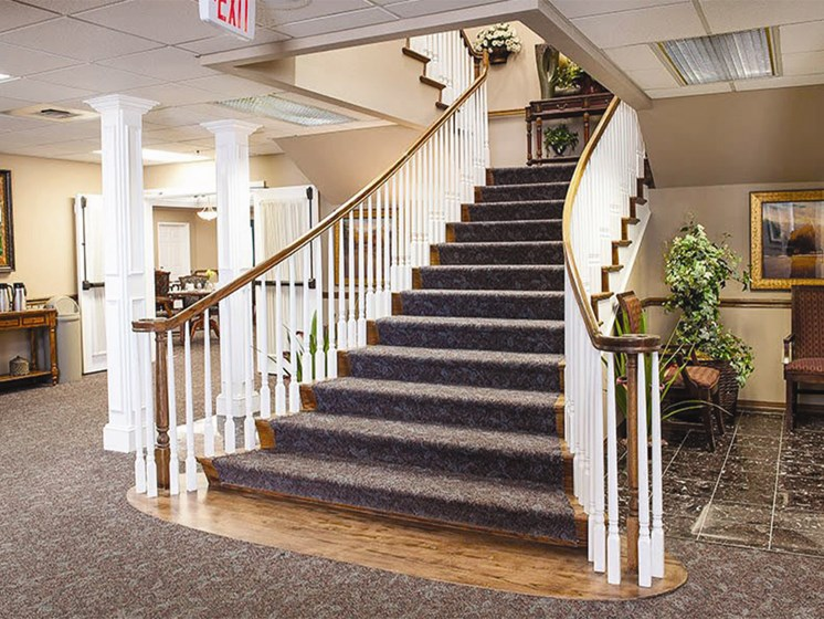 Designed Staircase at Lakeview Senior Living, Lincoln City, OR, 97367