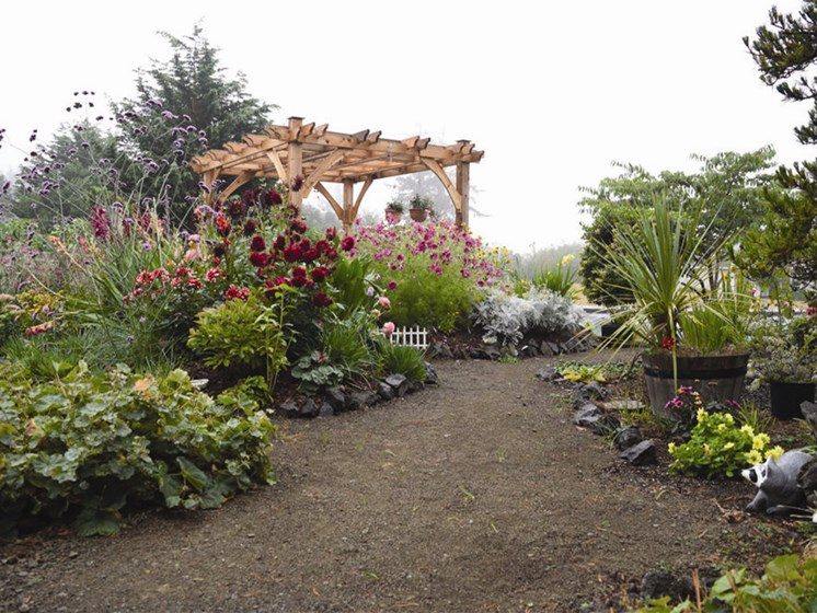 Manicured Garden And Plantings at Oceanview Senior Living, Oregon, 97365