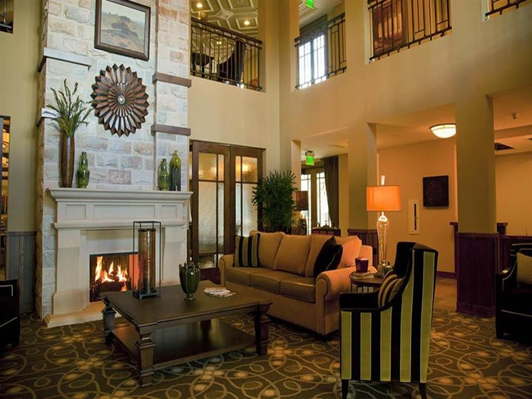 Clubroom With Fireplace at Westmont of Morgan Hill, California