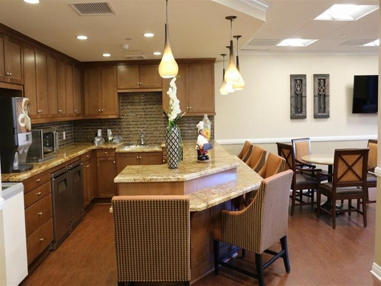 Fitted Kitchen With Island Dining at Westmont Town Court, Escondido, 92025