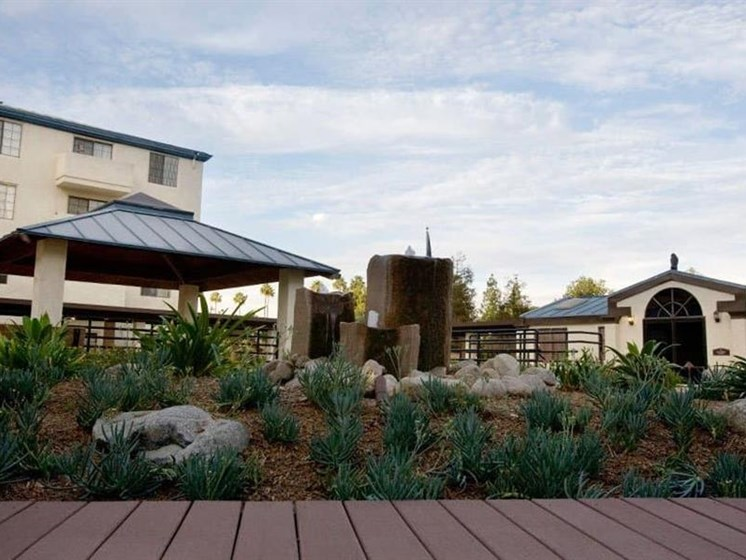 Shaded Outdoor Courtyard Area at Westmont Town Court, Escondido, California