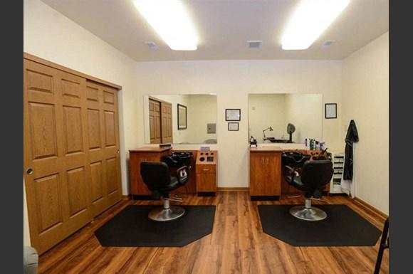 Dedicated Hair Salon at  Highlands at Riverwalk Apartments 55+, 10954 N Cedarburg Road, Mequon, Wisconsin