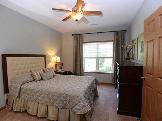 Cozy Bedrooms With Ceiling Fans at Highlands at Riverwalk Apartments 55+, Mequon, WI,53092