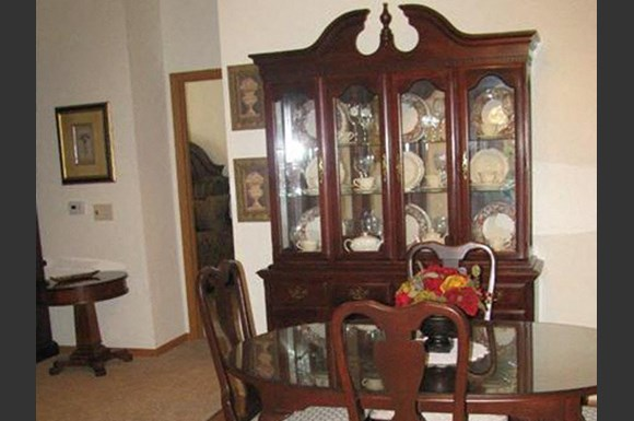 Furnished Dining room at Highlands at River Crossing Apartments , Wisconsin 54986