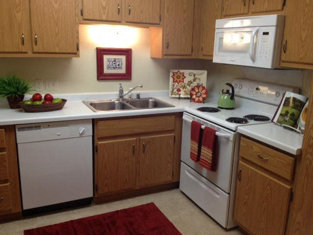 Spacious Kitchen with Pantry Cabinet at Foresthill Highlands Apartments & Townhomes 55+, Franklin, WI,53132