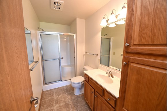 Bathroom with Large Linen Closet