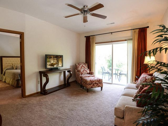 Private Patios and Balconies at The Highland at Mahler Park Apartments 55+, WI,54956
