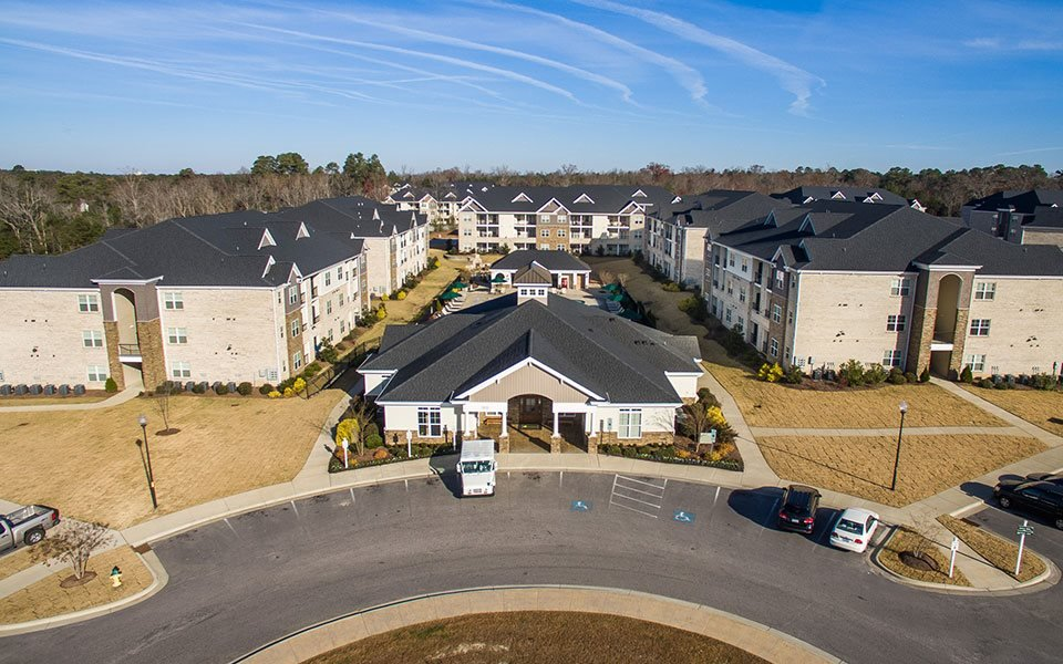 Aerial View of West End at Fayetteville in Fayetteville, NC