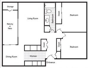 Richland, WA Maple Ridge 2 bedroom 1 bath