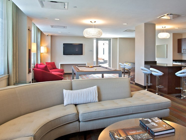 Large Clubhouse With Ample Sitting And Television at 34 Berry, Brooklyn, 11249