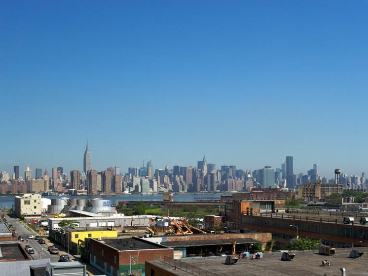 Panoramic View Of City at 34 Berry, New York