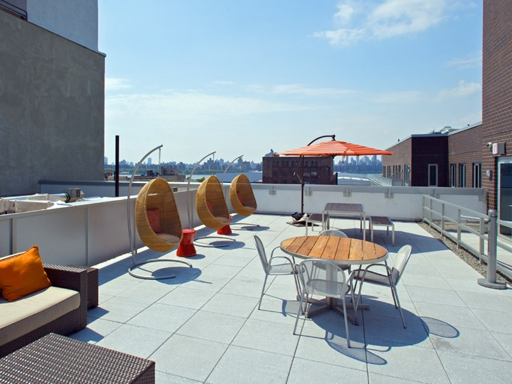 Rooftop Lounge at 34 Berry, Brooklyn, NY