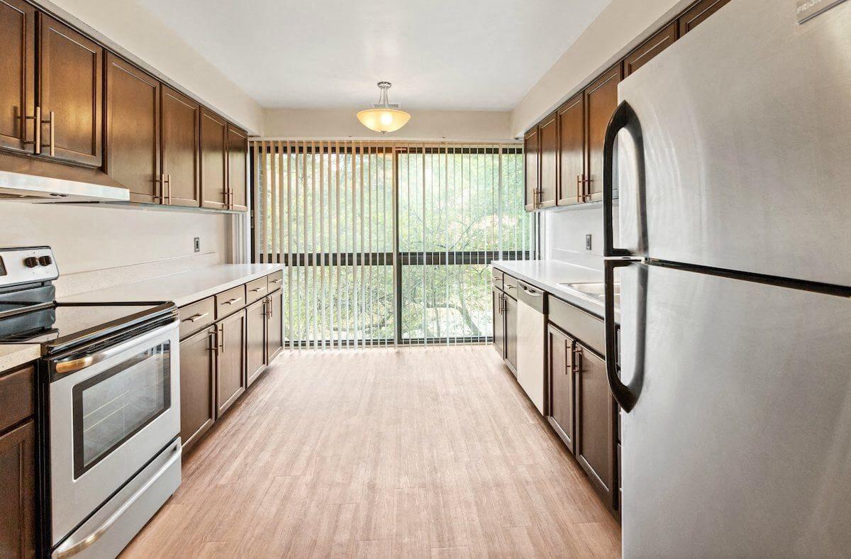 kitchen at Fairlane East Apartments