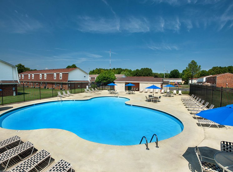 Affordable Woodbriar Apartments features a community pool