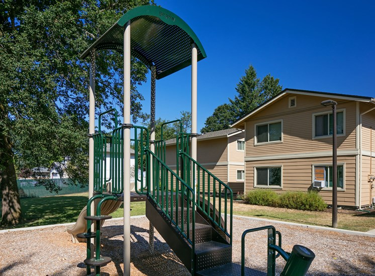Play structure outside apartments
