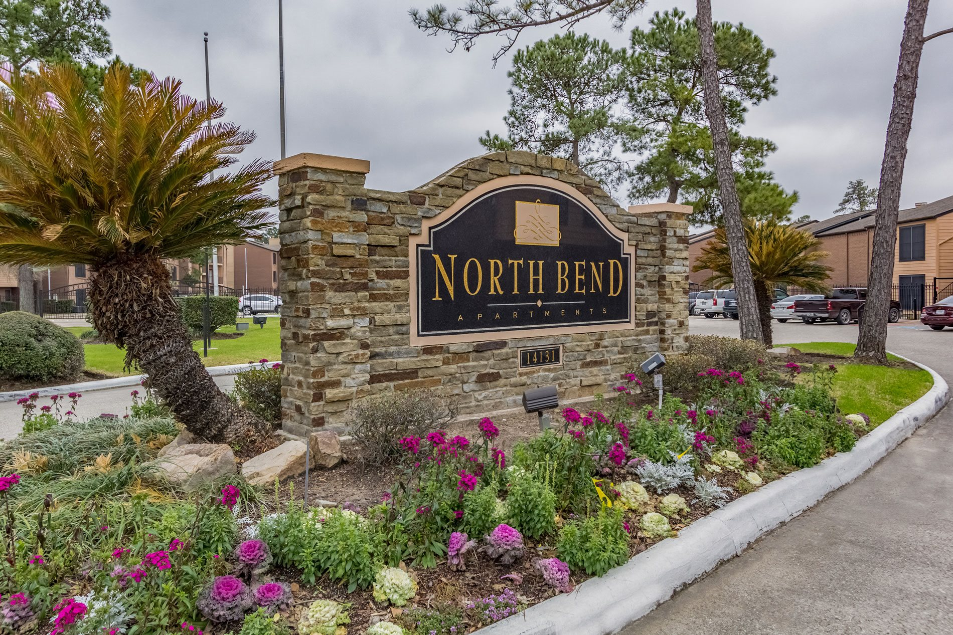Monument Sign at North Bend Apartment Homes in Houston, Texas, TX