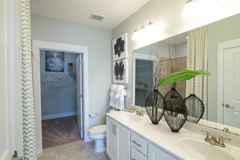 Bathroom With Extra Storage Space at Meridian at Fairfield Park, Wilmington, NC, 28412