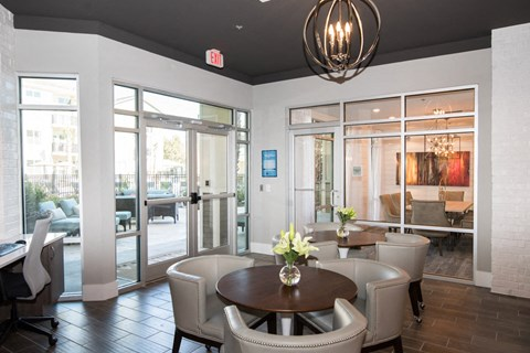Eat-In Table With Chairs In Clubhouse at Meridian at Fairfield Park, Wilmington, North Carolina