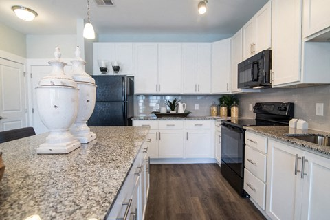 Modern Kitchen With Islands at Meridian at Fairfield Park, North Carolina