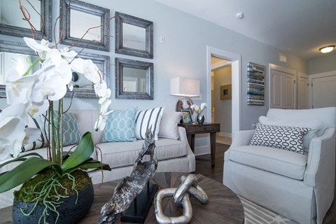 Cozy Living Room at Meridian at Fairfield Park, Wilmington, NC