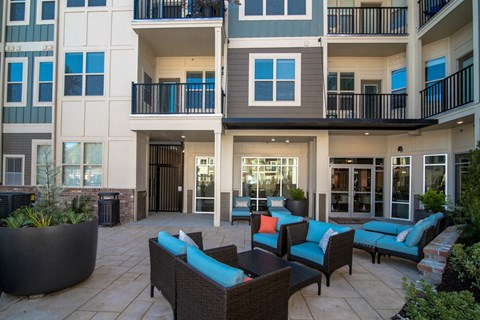 Courtyard With Ample Sitting at Meridian at Fairfield Park, North Carolina, 28412