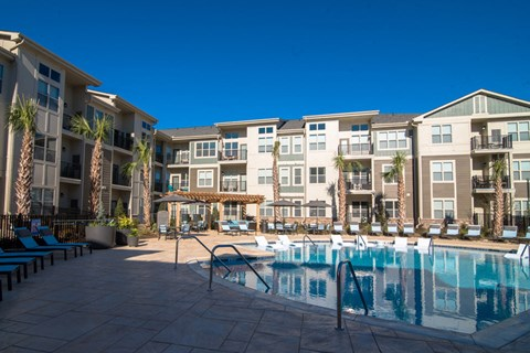 Swimming Pool With Relaxing Sundecks at Meridian at Fairfield Park, Wilmington, North Carolina