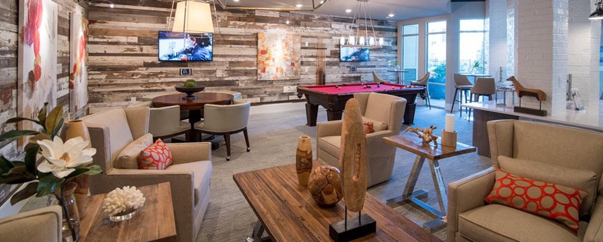 Luxurious Clubhouse With Ample Sitting And Television at Meridian at Fairfield Park, Wilmington