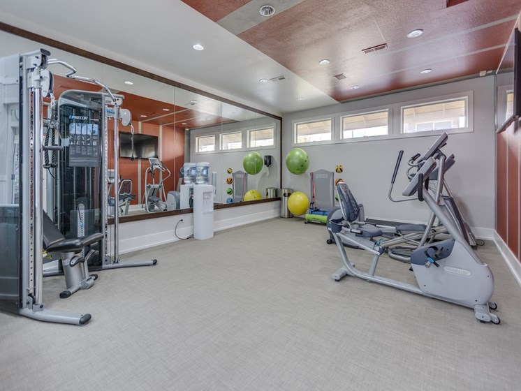 24-hour fitness center- cardio machines, weighted machines