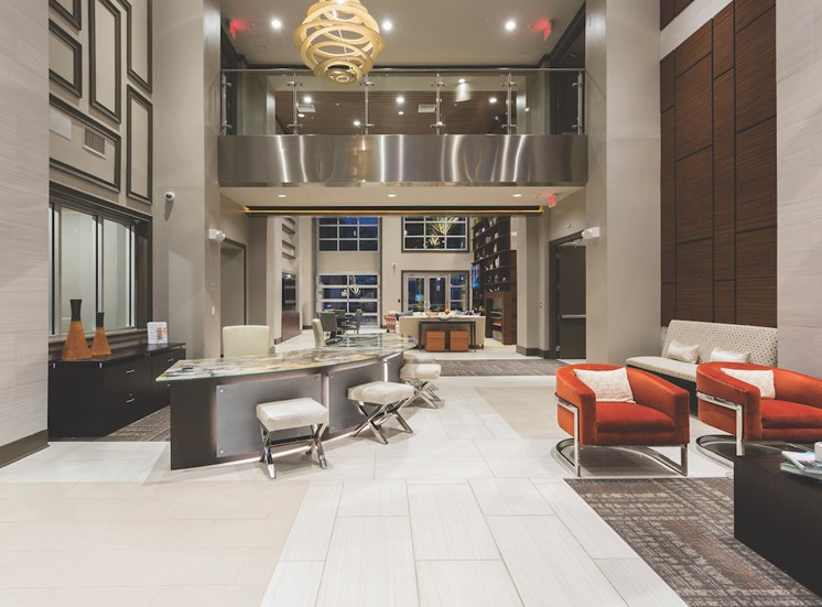 stylish clubhouse with comfortable seating at LandonHouse
