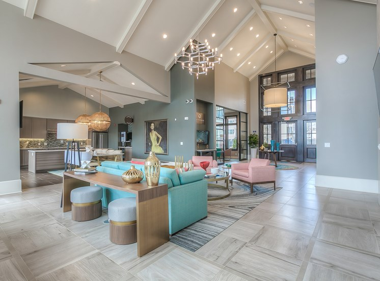 Apartments for Rent in Lenexa-Waterside Residences at Quivira Apartments Kitchen With Hardwood Flooring And Dark Wooden Cabinetry And Stainless Appliances