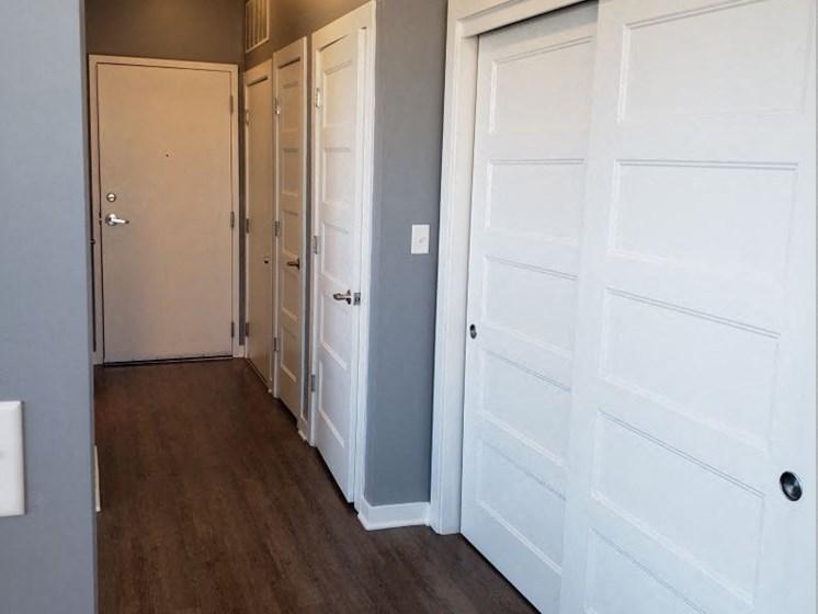 Painting white trim and doors!