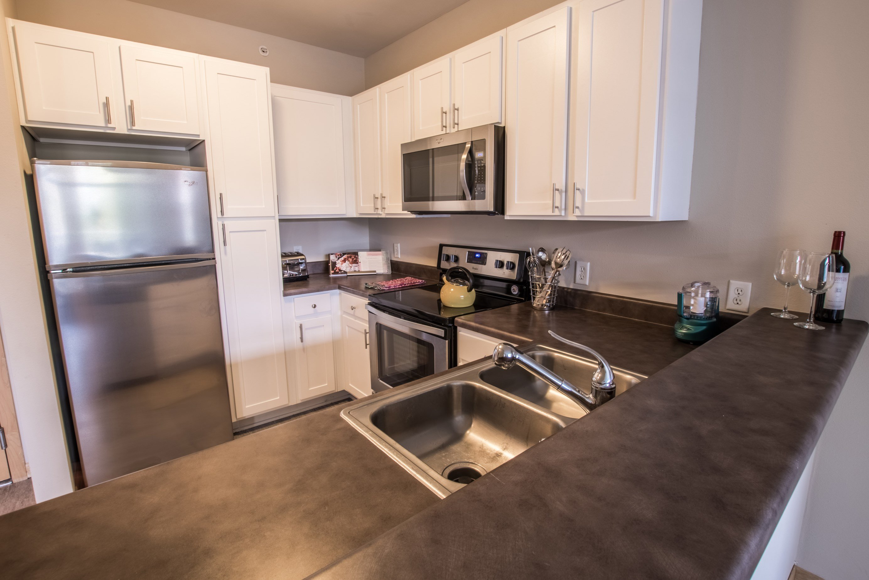 Kitchen at Trostel Square Apartments in Milwaukee, WI