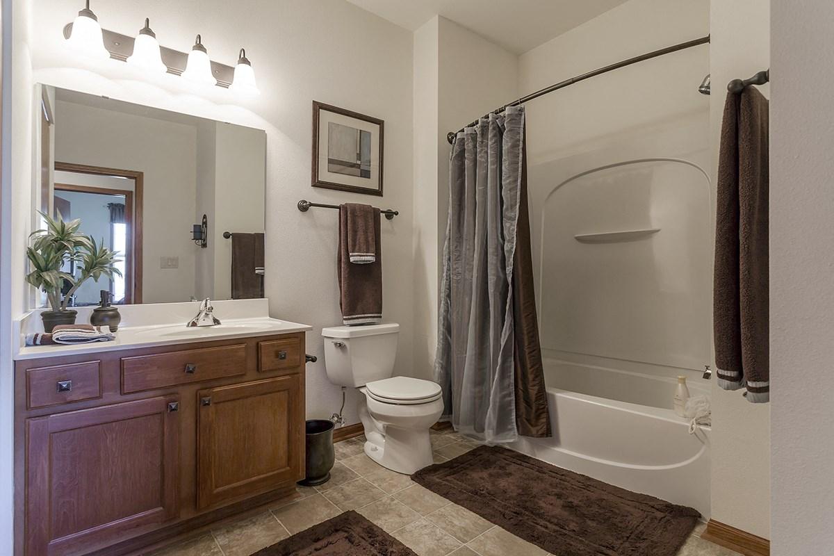 Bathroom at Norhardt Crossing Apartments in Brookfield, WI