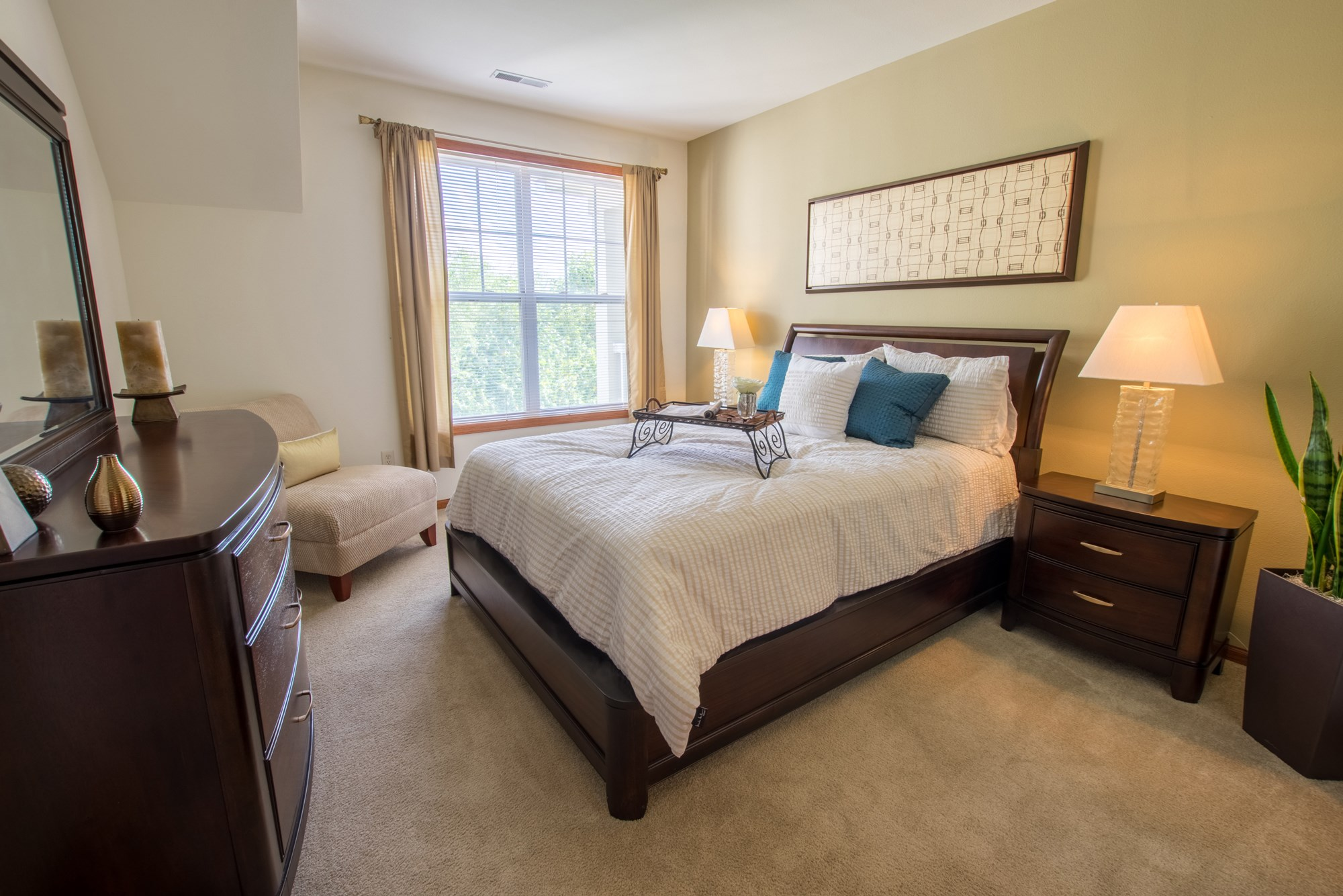 Bedroom at Norhardt Crossing Apartments in Brookfield, WI